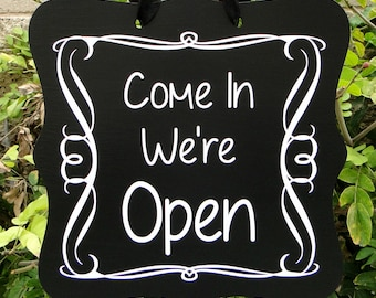Open Sign & Closed Sign, Double Sided, Boutique Open Sign, Cafe Sign, Store Sign, Shop Sign, Salon Sign, Wooden Open Sign