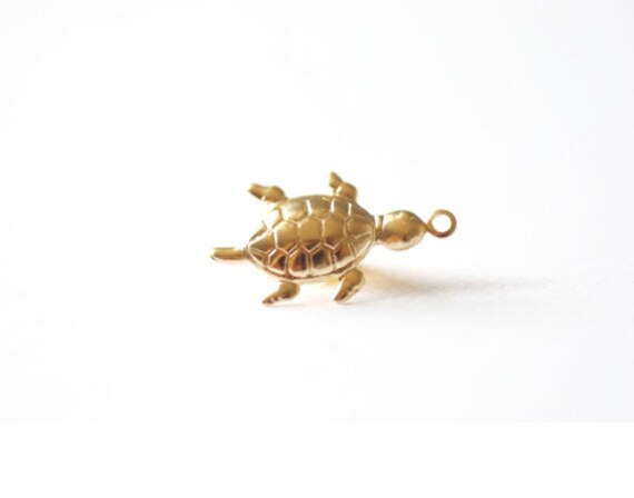 14k gold filled turtle charm gold turtle charm turtle charm