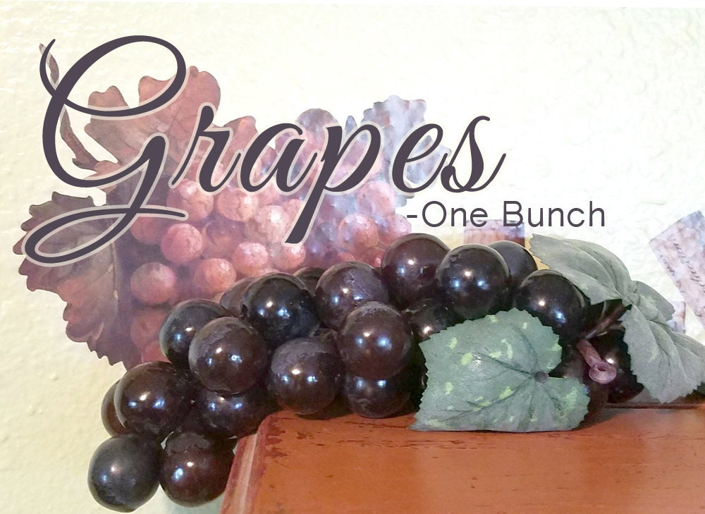 Grapes price is per bunch dark purple fake fruit by for Buy grape vines for crafts
