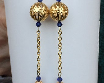 Golden Lace Gold Plated Filigree Dangle Earrings