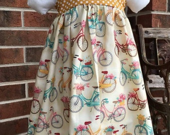 Toddler Bike Print Dress, 3T