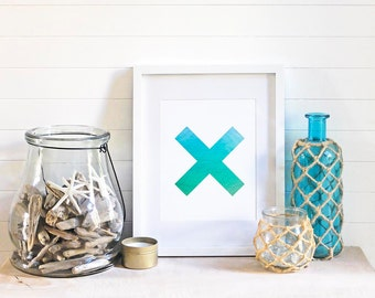 Ocean Print | Beach Wall Art | Coastal Wall Decor