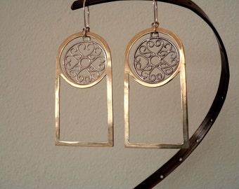 Dreamcatcher Earrings |Boho earrings |Hippie dreamcatcher earrings |Ethnic earrings |Dream cacher earrings |Silver handmade earrings