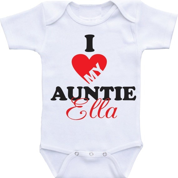 Auntie Loves You Baby Clothes Auntie Baby Clothes New Aunt