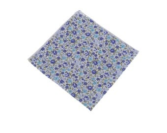 Floral Pocket Square.Lavender Floral Printed Design.Mens Pocket Square.Cotton Handkerchief.