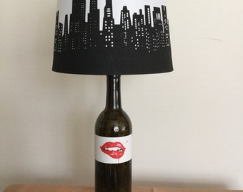 Wine Bottle Lamp, Lips in the City