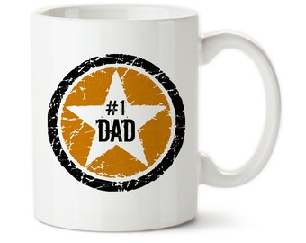 Orange Black, Rock Star, #1 Dad, Best Dad, Awesome Dad, Father's Day, Rock Star, Birthday Gift, For Dad, Dad's Birthday, Gift For Dad