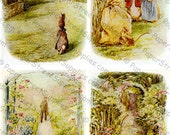 5-Pack of Beatrix Potter Illustrations #3 - Printable Digital Collage Sheets - Instant JPEG Downloads