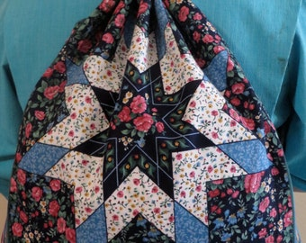 Quilt Drawstring Backpack