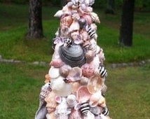 Sea Shell Christmas Tree (13 in.) - Mixed Brown Shells (Free Shipping for VA Residents w/ Coupon Code VAISFORLOVERS)
