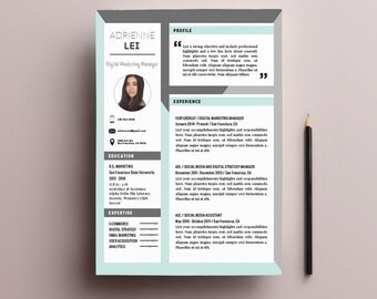 4-Page Resume Template Pack for Word + Cover Letter and References | Professional Resume Branding | US Letter | A4 | Instant Download