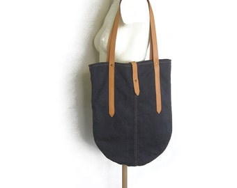 Denim Tote Bag, Recycled Denim Bag, Up Cycled Jeans Bag, Denim Shoulder Bag, Eco-Frindly Bag, Denim Leather bag, Women Fabric Bag, Denim bag