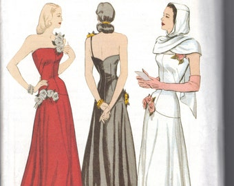 Retro  Butterick Reproduction 1948 Sewing Pattern 6408