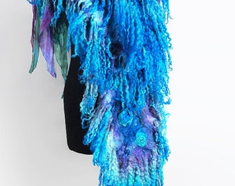"Scarf Boho Felted ""Veronica"" (handmade scarves boho-chic buy)"