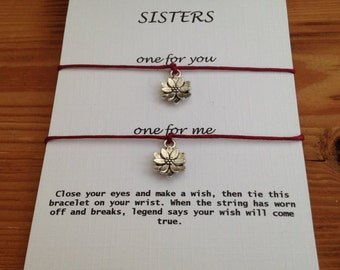 Sisters Wish Bracelets, Sisters Love, Sisters Gift, Wish Bracelet, Friendship Gift, Inspirational Gift, Sorority sisters, Gifts for her