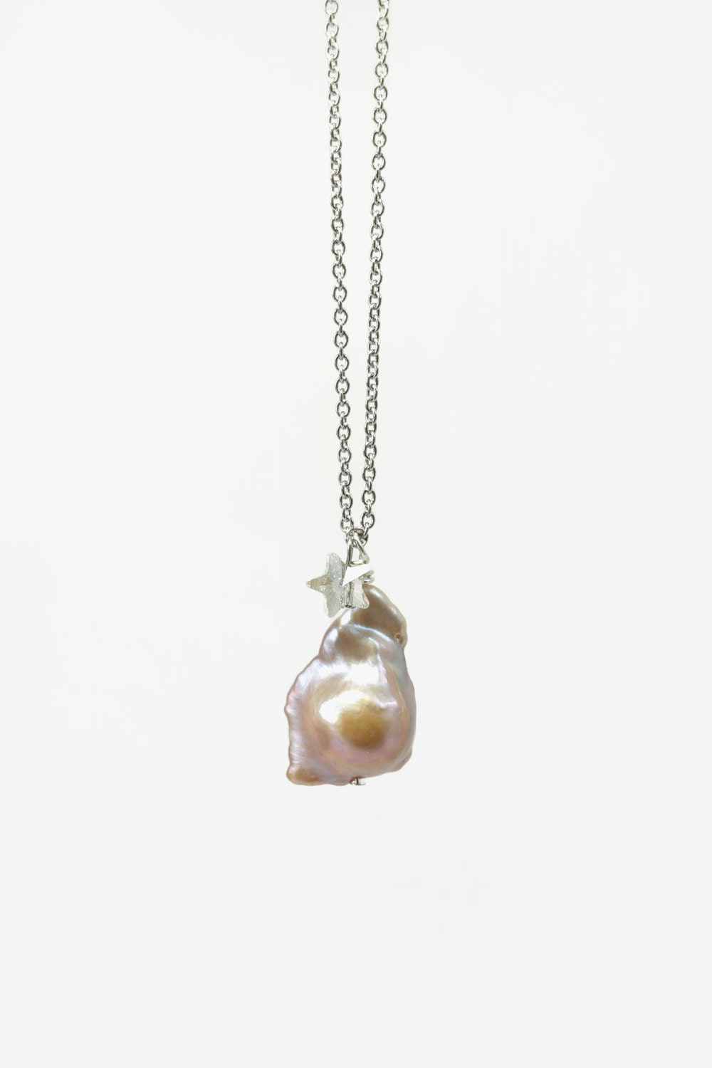 simple baroque pearl pendant necklace top quality pearl with