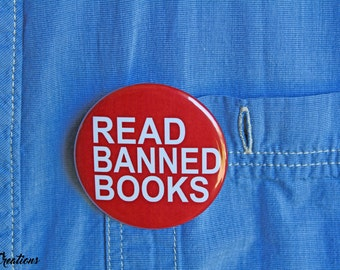 Read Banned Books - Pinback or Magnet Button