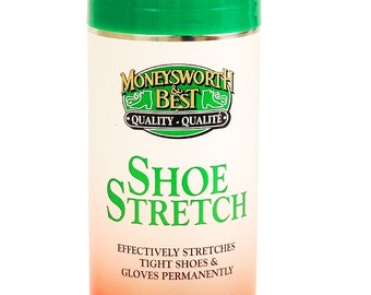 Shoe Boot Aerosol STRETCH aerosol SPRAY leather suede glove and fabric STRetchER stretching fluid Moneysworth & Best 80600