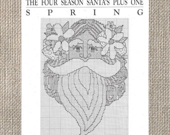 Curtis Boehringer - The Spring Santa Ornament - Counted Cross Stitch Chart Leaflet