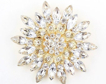 70x70mm Wedding Purple/ Clear/ Pink Rhinestone Brooch Pin, Silver Tone, DIY Wedding Brooch Bouquet Lot Gift Embellishment