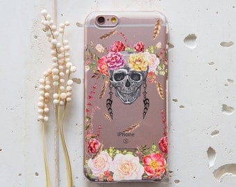 iPhone SE Case Skull iPhone 6 Case Flower iPhone 6s Case iPhone 5s Case iPhone 7 Case Skull iPhone 6s Case Clear Samsung Galaxy S7 Case 235
