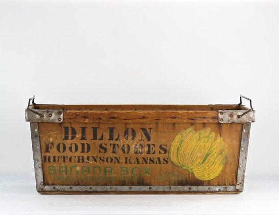 Banana Box Banana Crate Vintage Banana Box Vintage Banana