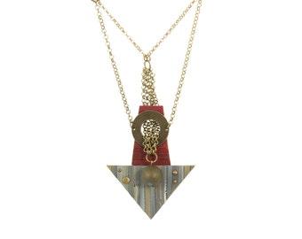 Unique Necklace - Avant Garde Tassel Necklace - Artisan Modern Jewelry - Long necklace contemporary