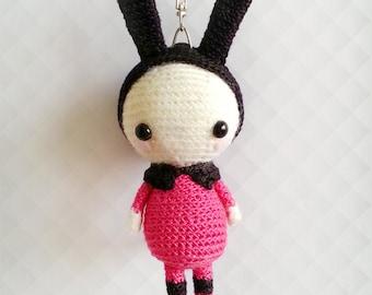 Crochet Lamb Bag Charm Lamb Amigurumi Doll Lamb by krokrolamb