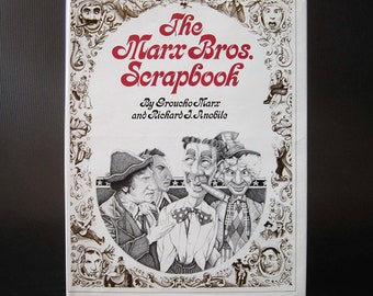 The Marx Bros. Scrapbook By Groucho Marx & Richard J. Anobile (1973) and FREE BONUS bookmark and DVD of a classic Marx Bros. movie!