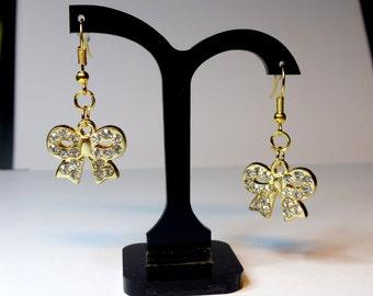 Golden Ribbon earrings