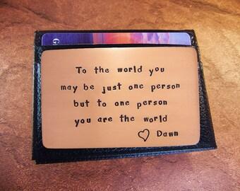 Boyfriend Birthday, Copper Love Card, Rustic Copper, Cool Boyfriend Gift, Romantic