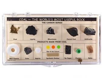Rock Collection - Rock Collection Box- Rock Collection Display - Rock Collection Kit - Coal The World Most Useful Rock