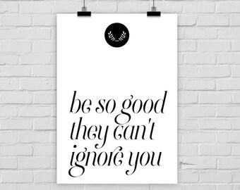 print poster BE SO GOOD