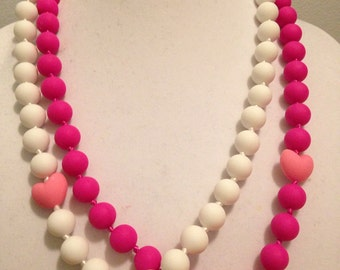 Silicone Teething Necklace - Nursing Necklace - adult size