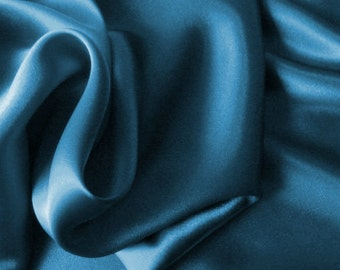 Azure Blue Satin Pillowcases in All Sizes. Mother's Day Gift. Travel Pillow Covers, Body Pillow Case. Helps Frizzy Curly Hair.