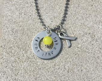 Childhood cancer awareness necklace