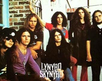 Lynyrd Skynyrd Band Early Rare Poster