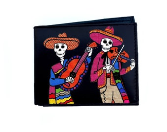 Day of the Dead Skeletons Playing Guitars Wallet