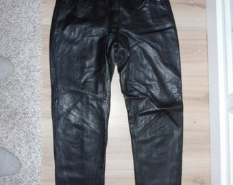 Leather pants size 38 FR (W28 US)