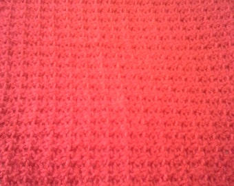 Red Afghan, travel size baby afghan, crocheted red afghan, red baby blanket, red baby afghan, nb photo prop, valentine red afghan, red