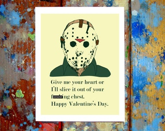 Jason Voorhees Friday The 13th Happy Valentine's Day Card