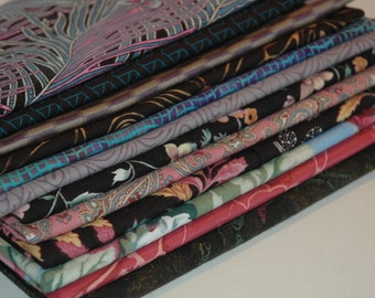 Cotton Fabric Bundle; 12 Fat Quarters, Stash Builder  #285