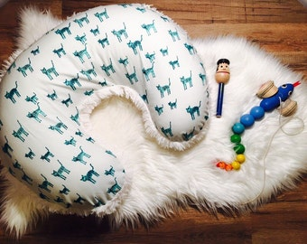 Boppy Cover//Nursing Pillow Cover//Washable Boppy Cover//Zip Closure//Kitty//Cat