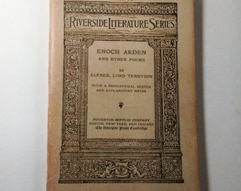 SALE 50% Off. Riverside Literature Series  Alfred, Lord Tennyson Enoch Arden and Other Poems Number 73