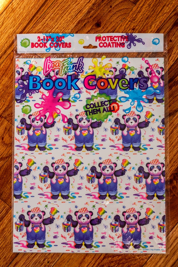 Wrapping Paper Book Cover Instructions : Items similar to vintage lisa frank book covers