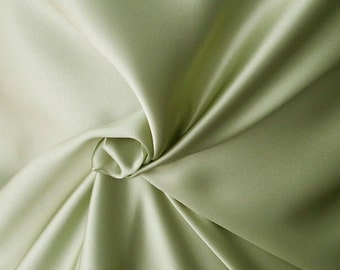 green satin fabric pistachio green pure silk satin medium weight 85g per square meter European production blouse top dress toga