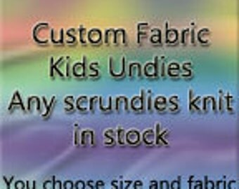 Kids undies and trainers - any adult fabric offered
