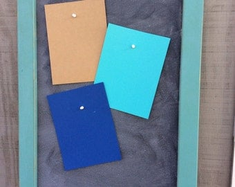 Magnetic Chalkboard CUSTOM COLORS AVAILABLE for the frame
