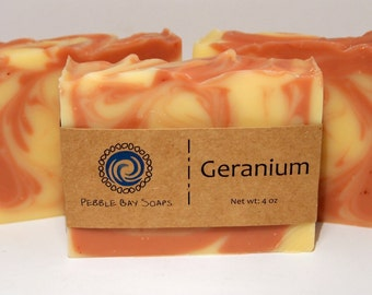 Geranium Soap - Essential Oil Soap - Geranium Litsea Soap - Natural Soap - Handmade Soap - Cold Process Soap