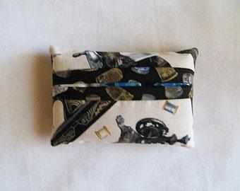 Pocket Tissue Holder - Tissue Cover - Travel Tissue Holder - Purse Tissue Package -Sewing Machine Fabric